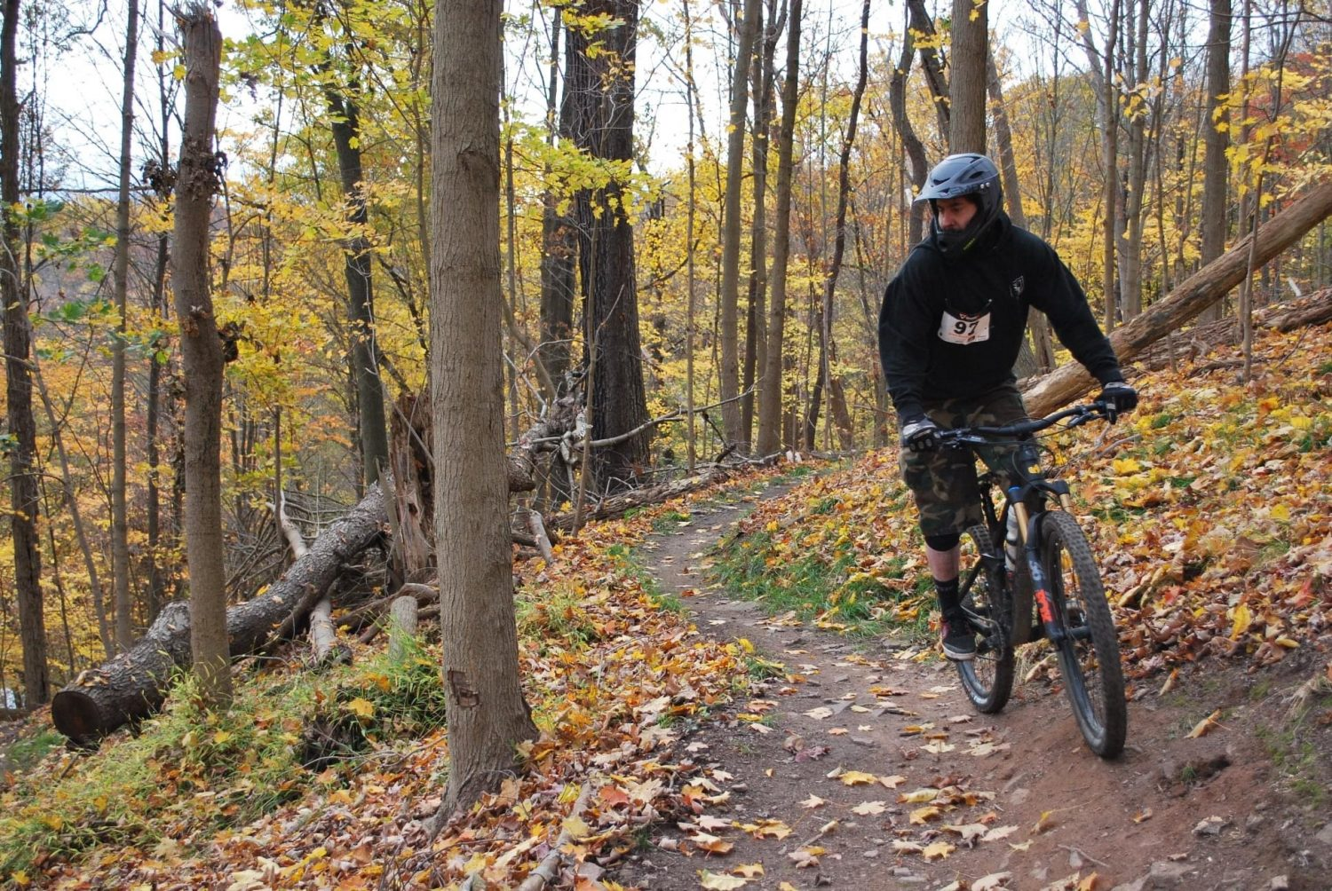 Outdoor mountain biking at Johnstown inclined plane